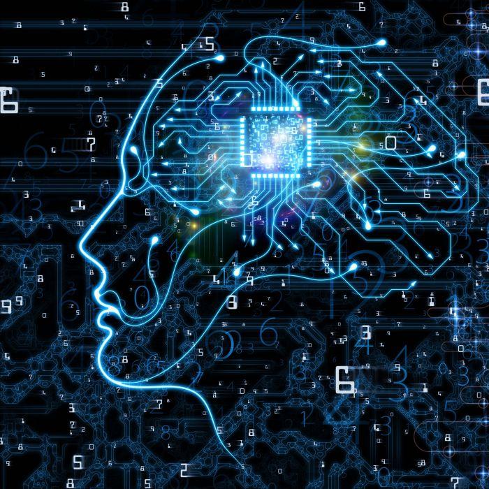 Digital brain visualization - machine learning blog thumbnail